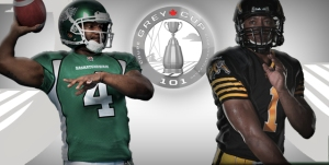 Darian Durant and Henry Burris will headline the list of one-on-one matchups this weekend in the 101st Grey Cup Championship
